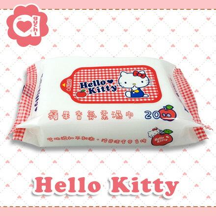 ☆Hello Kitty☆凱蒂貓 蘋果香氛柔濕巾 20抽【亞古奇 Aguchi】