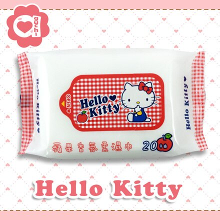☆Hello Kitty☆凱蒂貓 蘋果香氛柔濕巾 20抽X36包【亞古奇 Aguchi】 - 限時優惠好康折扣