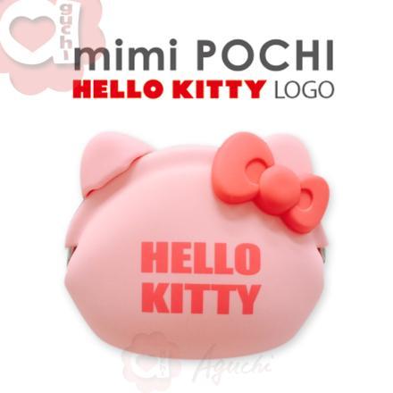 ☆Hello Kitty☆mimi Pochi 立體造型矽膠圓形-LOGO 零錢包/多功能包☆桃粉紅 0