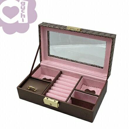 【Aguchi 亞古奇】編織公主-耀眼棕 珠寶盒~微小 NG款 優惠價61折免運費01 0