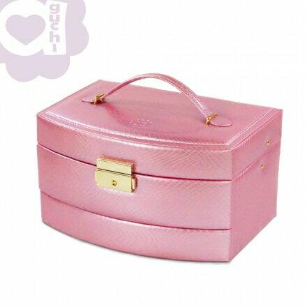 【亞古奇 Aguchi】Outlet 特賣品-皇家風範 ☆ 香檳粉 ☆ 珠寶盒 微小 NG款04 0