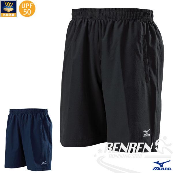 MIZUNO 美津濃 平織運動短褲 (黑) 單層無內裡 休閒 運動 健身