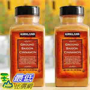 [COSCO代購 如果沒搶到鄭重道歉] Kirkland Signature 科克蘭 肉桂粉 303公克 (2入裝) _W617698