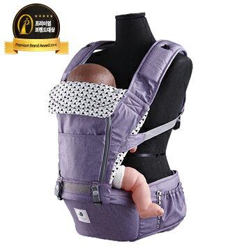 【本月贈有機護唇膏x1 市值$199】【Pognae】 No.5超輕量機能坐墊型背巾-米蘭紫 - 限時優惠好康折扣
