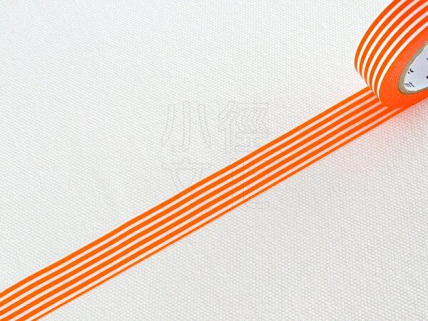 *小徑文化* 日本進口和紙膠帶 mt 1P DECO - 條紋_柑橘 ( MT01D321 )