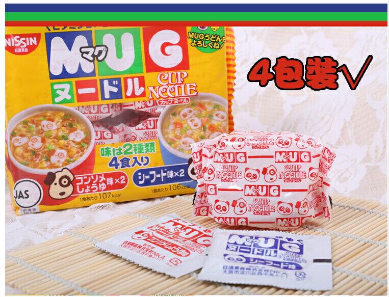 有樂町進口食品 日清 MUG杯仔麵-醬油/海鮮(94g) J65 4902105016084 1