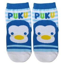 『121婦嬰用品館』PUKU 橫條學步襪12-24m - 藍 1601 0