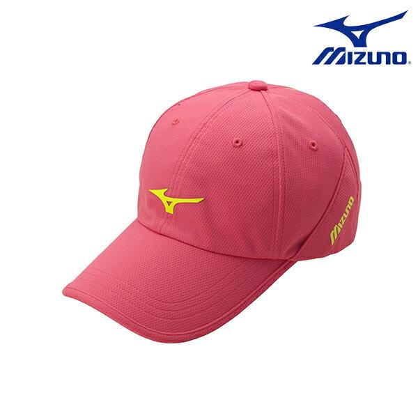 彩虹反光LOGO 女運動路跑帽 J2TW620068 ( 玫瑰紅 )【美津濃MIZUNO】