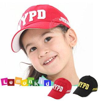 Lemonkid◆NYPD字母縫布運動風兒童棒球帽