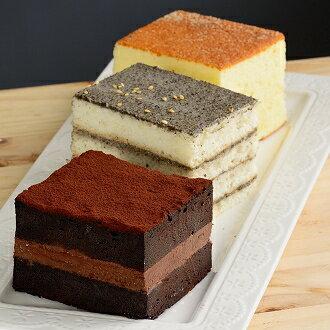 ~彌月試吃~一盒有三種口味^(輕乳酪、芝麻天使、巧克力蛋糕^) ~La Pissenlit