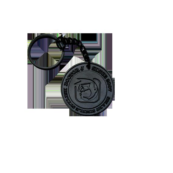 DoctorJ 人頭鐵牌鑰匙圈 黑色