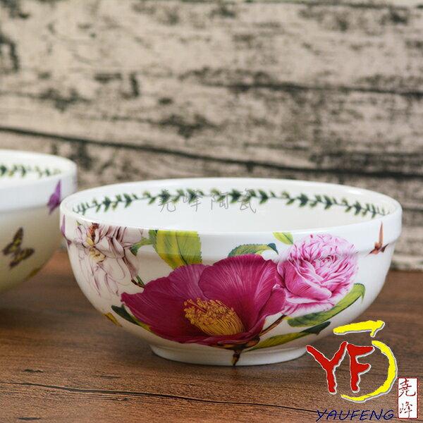 ★堯峰陶瓷★韓國 韓式湯碗 麵碗 7吋骨瓷碗/缽 芍藥花 單入