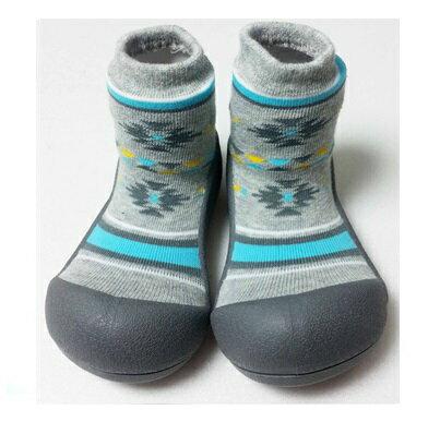 【本月特價$599】韓國【Attipas】快樂腳襪型學步鞋-鐵灰北歐 - 限時優惠好康折扣