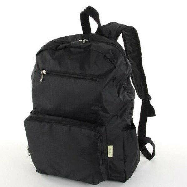 摺疊收納旅行後背包 -日本設計款多種顏色上市 - 純黑 0