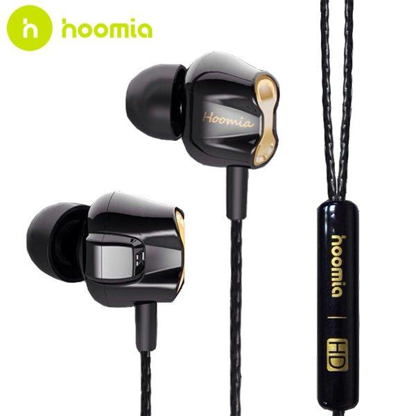 *╯新風尚潮流╭* hoomia D8 雙動圈高音質編織線入耳式耳機 hoomia_D8