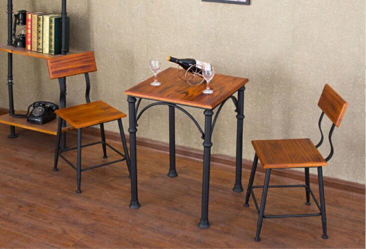 ~Chair Empire~一桌二椅 方桌 Loft風 法式 工業風 水管 餐桌 咖啡桌椅
