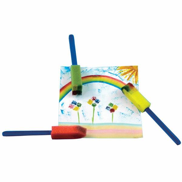 【華森葳兒童教玩具】美育教具系列-圓形海綿彩繪刷 L1-AP/125/DS (華森葳系列消費1500元加贈赫利手動炫光風扇)