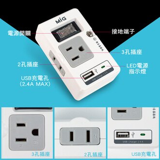 1孔USB+1開3P+2P分接器https://rms.rakuten.com.tw/products/new