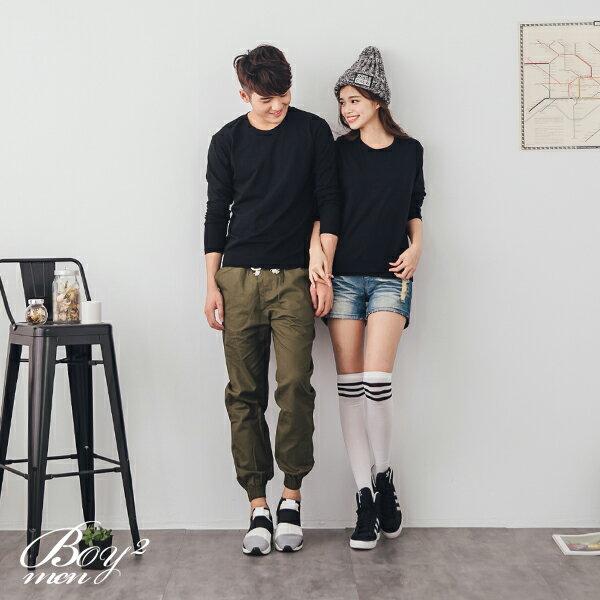 ☆BOY-2☆ 【XX88017-1】情侶潮流質感素面圓領長T恤 3