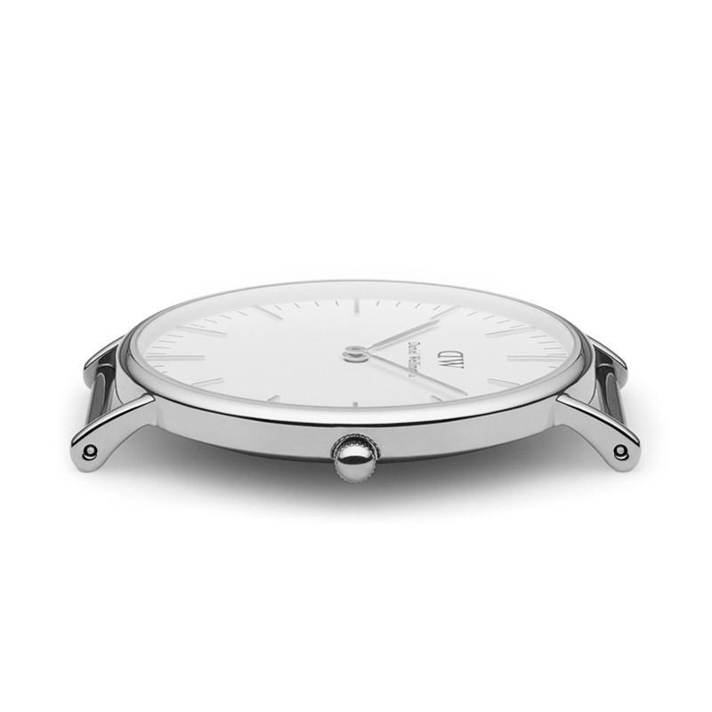 瑞典正品代購 Daniel Wellington 0602DW 銀  尼龍 帆布錶帶 女錶手錶腕錶 36MM 2