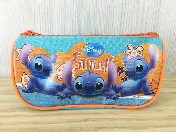 【真愛日本】15100300027 三角船型筆袋-3ST 迪士尼 星際寶貝 史迪奇 鉛筆盒 筆袋 文具用品