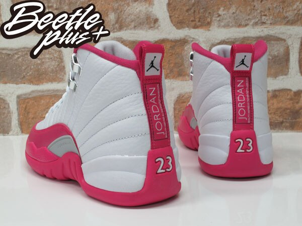 女鞋 BEETLE NIKE AIR JORDAN 12 RETRO GS 粉紅 情人節 510815-109 2
