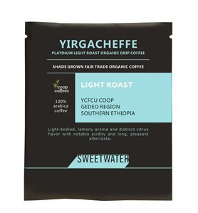 【SWEETWATER】耶加雪夫白金淺焙有機咖啡豆--掛耳式(1包10入) - 限時優惠好康折扣