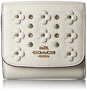 COACH F53958 新品優雅女士花卉鉚釘錢包時尚休閑手拿包