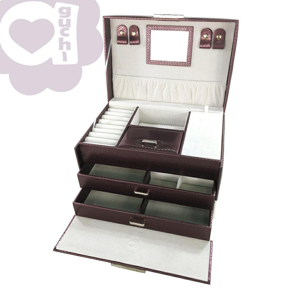 【亞古奇 Aguchi】繆斯女神-玫瑰紫 珠寶盒(浪漫女伶系列) - 手工精品時尚設計珠寶盒/戒盒/耳環盒 1