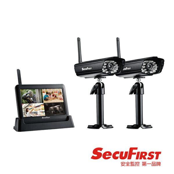 ★送↘托特包▼【SecuFirst】數位無線網路監視器。一鏡二機/DWH-A059X
