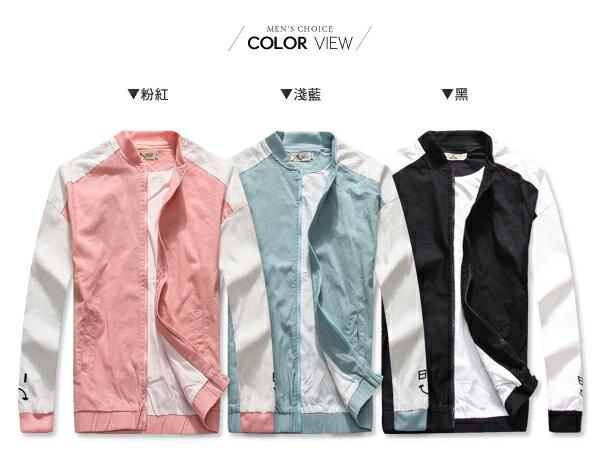 ☆BOY-2☆【NQ98028】飛行外套 休閒笑臉雙色棒球外套 2