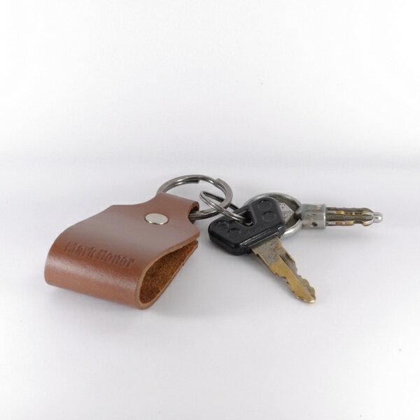 鑰匙圈 真皮 皮革 寛圈版 咖啡 -Mark Honor