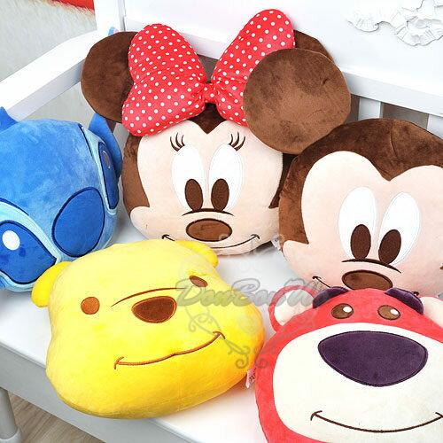 迪士尼米奇米妮熊抱哥史迪奇維尼熊抱枕靠枕午安枕大頭525361海渡