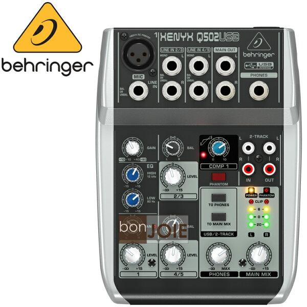 ::bonJOIE:: 美國進口 Behringer Xenyx Q502USB Audio Mixer 混音器 (全新盒裝) USB介面 德國耳朵牌 Q502 USB 介面