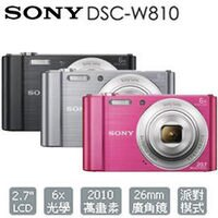 SONY 索尼推薦到【集雅社】 SONY DSC-W810 數位相機 公司貨 ★加碼送原廠攜行包等好禮 w810