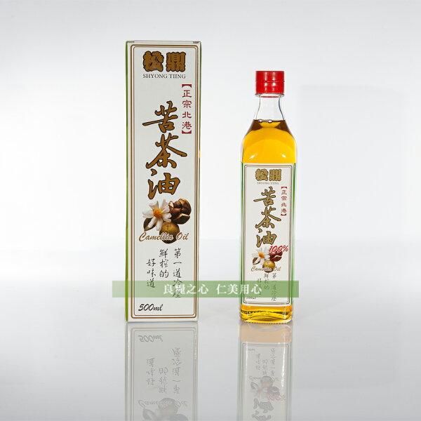 松鼎 正宗北港100%苦茶油(500ml)x1_盒裝