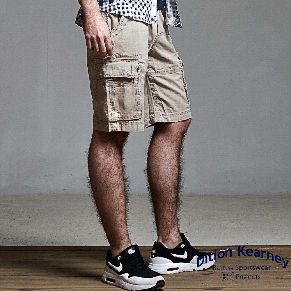 DITION  立體感多口袋 outer美式水洗工作短褲 1