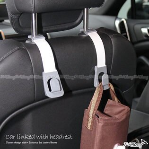 日本MAKINO| 牧野家-車用汽車座椅頭枕掛勾2入組|台灣製MIT汽車百貨 MAKINO