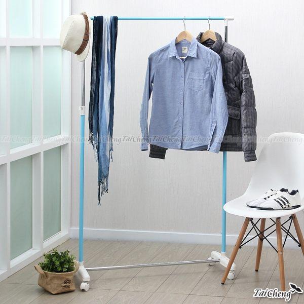 日本MAKINOU 衣物收納|可上下伸縮落地單桿衣架-台灣製|晾衣架衣櫃吊掛包包 曬衣架 JA雜貨牧野家