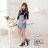 格子舖*【AJ37072】MIT台灣製 流行塗鴉螢光撞色 繫帶高筒休閒街頭運動球鞋 帆布鞋 3色 1