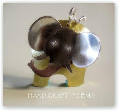 大象物語(可愛多比)~可愛動物925純銀墜飾/大象純銀項鍊, 手作的詩Baby Jewelry/情人/生日/聖誕禮物! 29*32mm