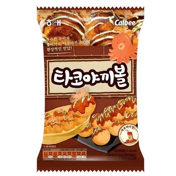 韓國餅乾 海太Calbee 卡樂比 章魚燒餅乾 韓劇 又是吳海英 同款