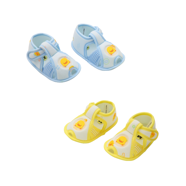 『121婦嬰用品館』黃色小鴨 格狀學步鞋 0