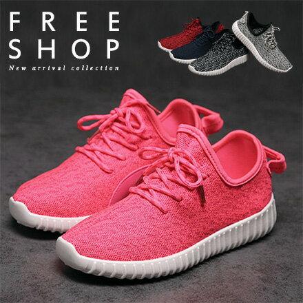 休閒鞋 Free Shop【QFSSG512】情侶款 時尚輕量化清爽休閒慢跑鞋 舒適鞋底厚底椰子鞋懶人鞋