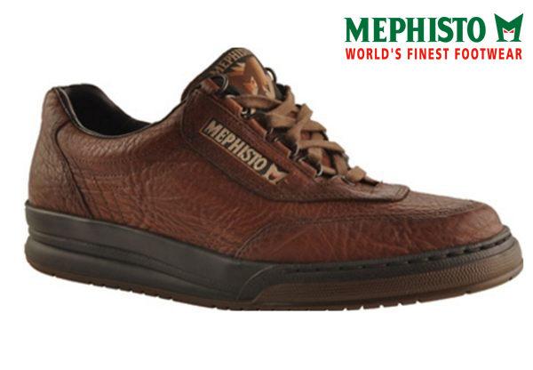 Mephisto 綁帶皮革休閒鞋 深咖啡 0