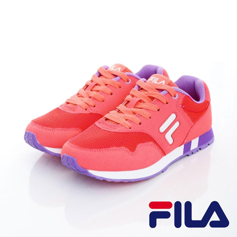 FILA  女款 復古網眼透氣多功能慢跑鞋系列 馬卡粉 J908O-591 0