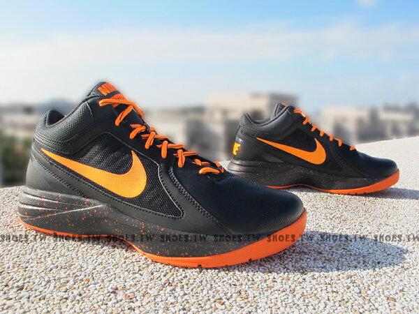 Shoestw【637382-021】NIKE THE OVERPLAY VIII 籃球鞋 室外 黑橘