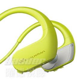 【曜德★買一送三】SONY NW-WS413 黃綠 4GB 防水極限運動數位隨身聽 ★免運★送收納盒+耳塞+SONY頸掛繩★