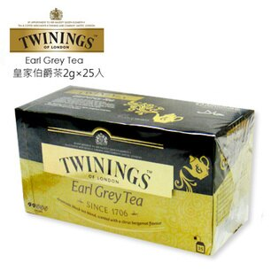 英國【TWININGS 唐寧】皇家伯爵茶2g*25入/盒