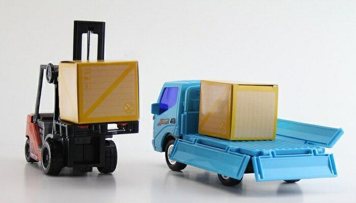小小家 磨輪小堆高機+磨輪小貨車 32526 4
